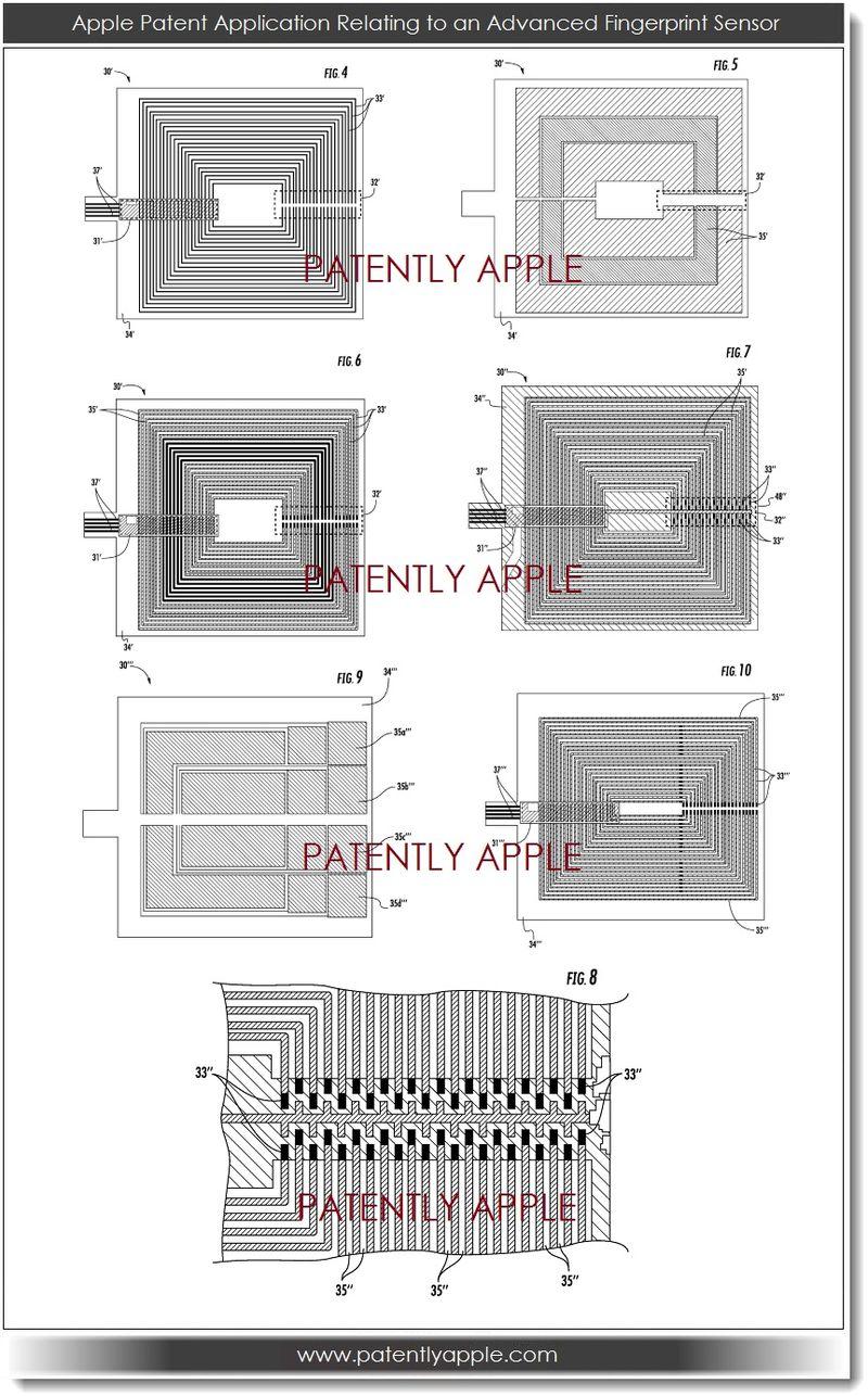 5. APPLE FINGERPRINT SENSOR PATENT FIGS 4-10