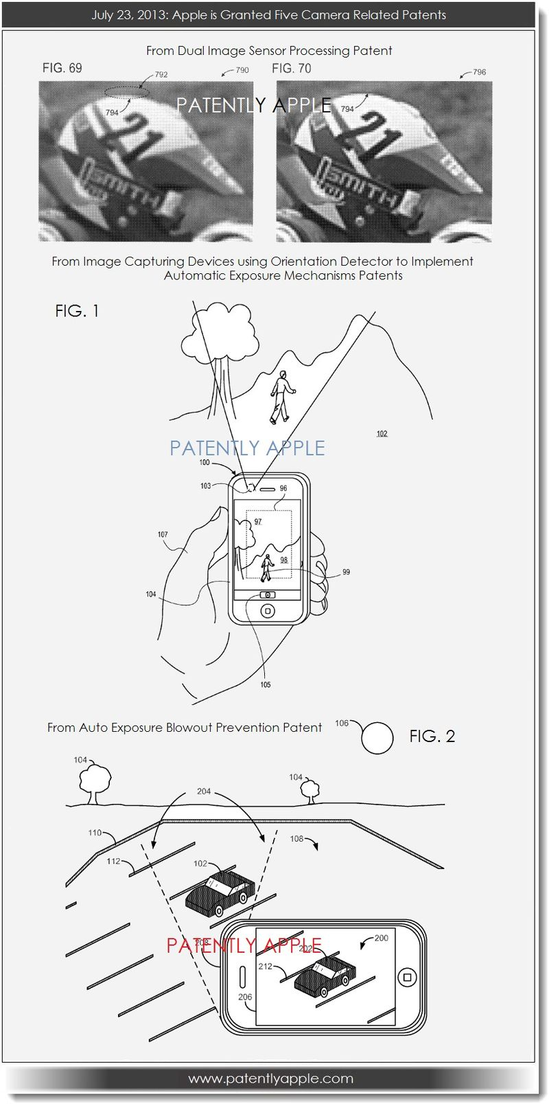 6. Apple granted five camera patents - July 23, 2013