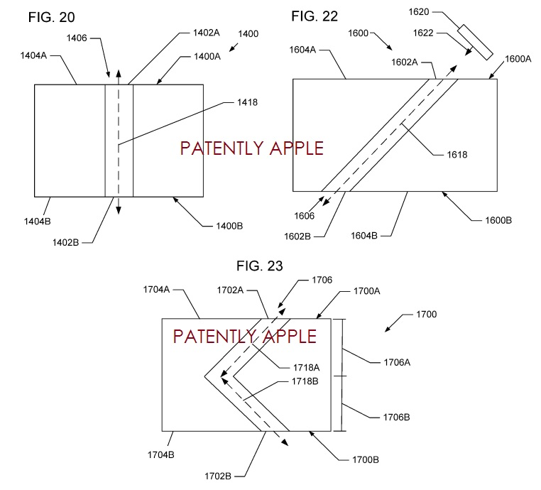 4. Apple patent, forming 3D structures, Distinct  Angles can be created