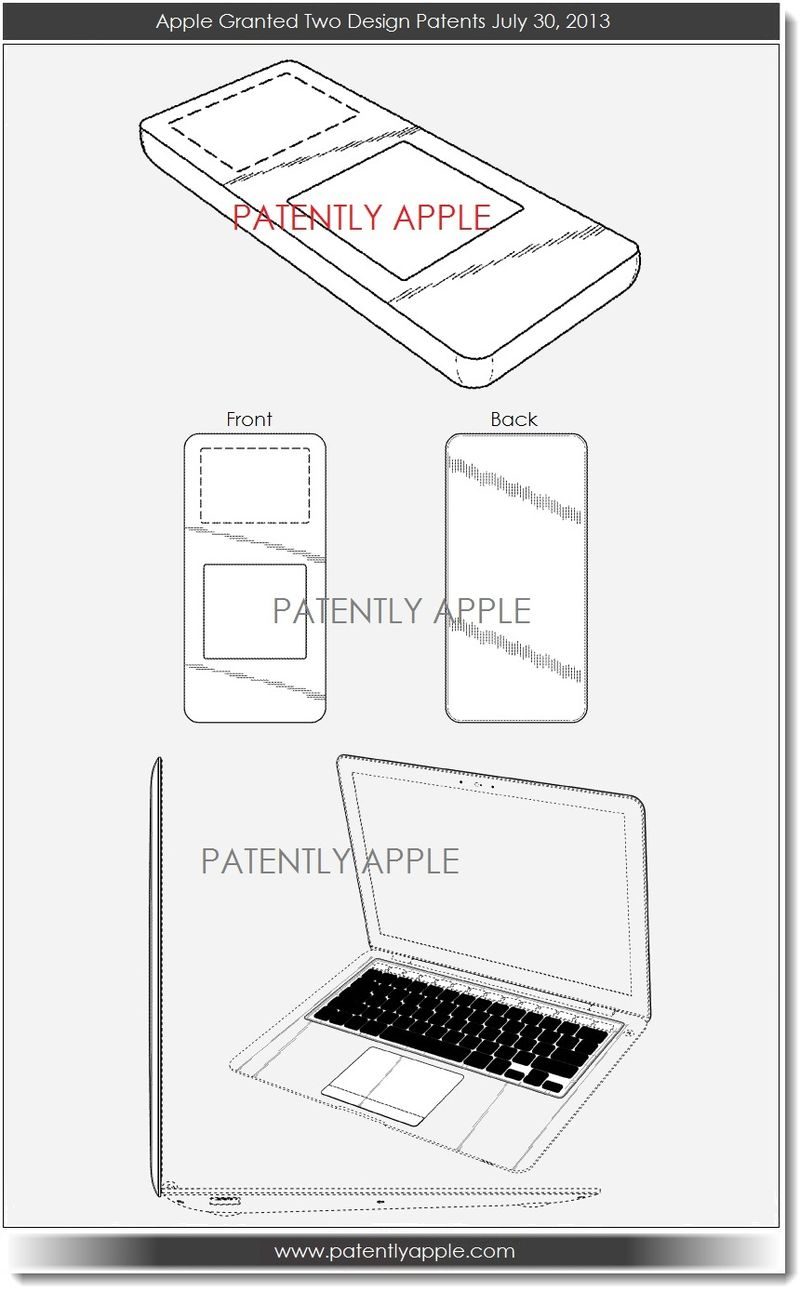 4. Apple granted 2 design patents July 30, 2013