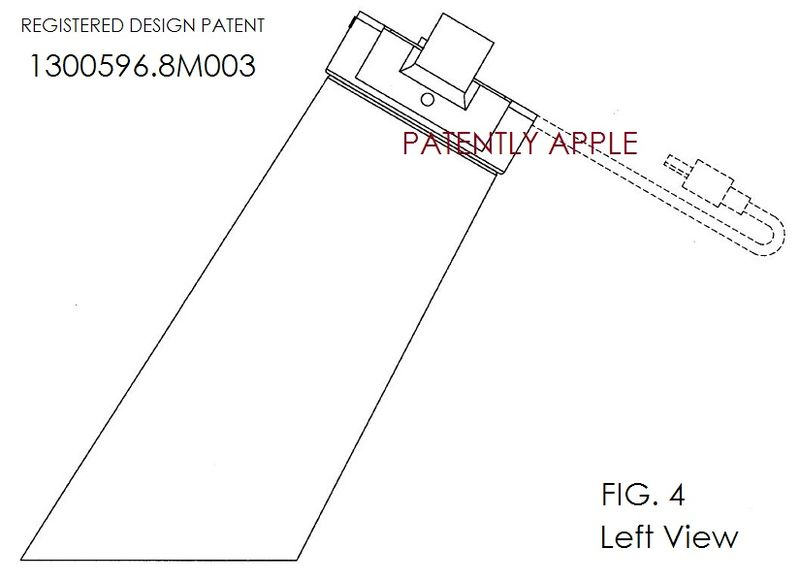 5. Apple design patent granted in Hong Kong. fig. 4 of 8m003