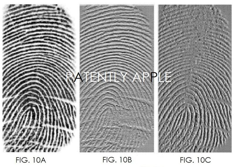 6. APPLE PATENT FIGS. 10a-10c are fingerprint images showing horizontal and vertical differences