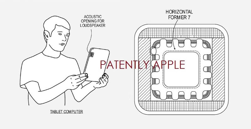 4. Apple granted patent for loudspeaker - horizontal former