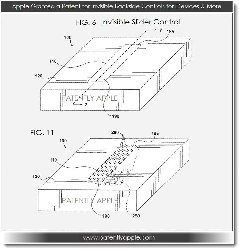 3. Apple granted patent for invisible backside controls - slider