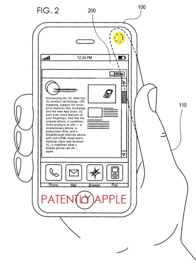 3A Apple Patent Swipe Control