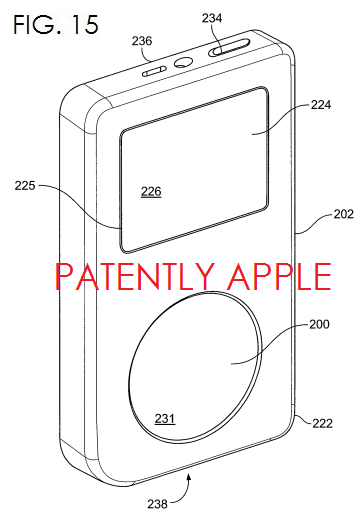 3. Apple granted patent for movable track pad - iPod