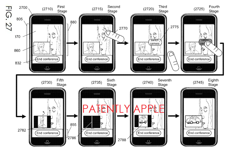 7. Apple Granted a Patent for Switching Cameras during a Video Conference of a Multi-Camera iDevice