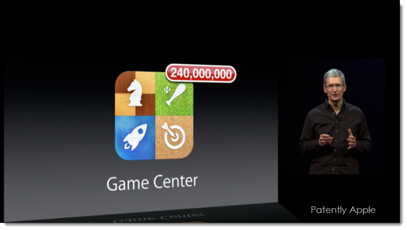 7. Tim Cook's slide - Apple's Gam Center - 240 Million users