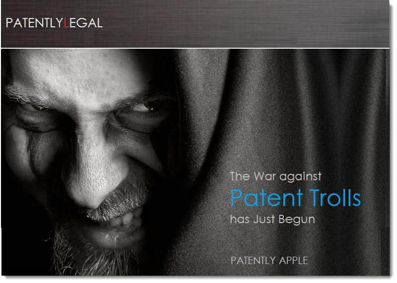 1a. Cover - The war against patent trolls has just begun