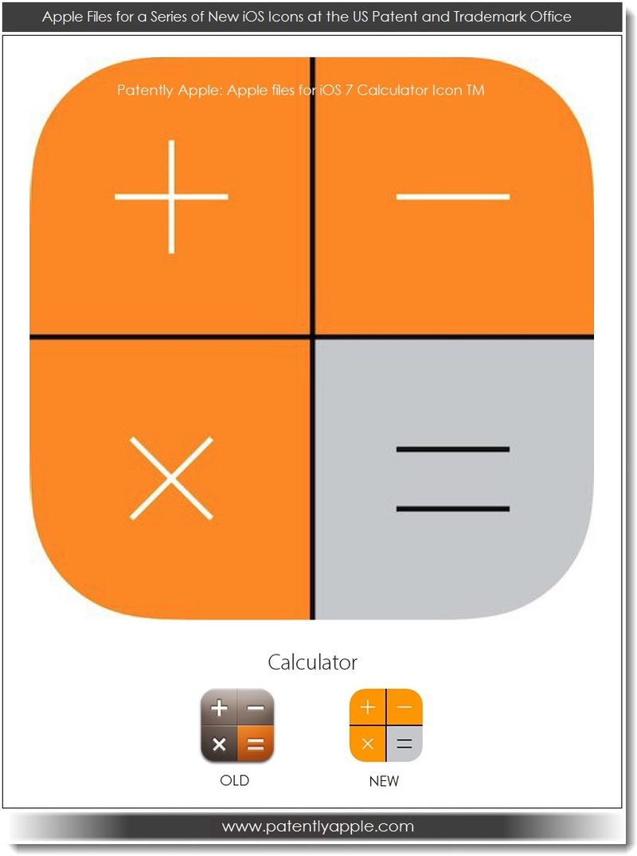 3. Apple iOS 7 calculator icon TM