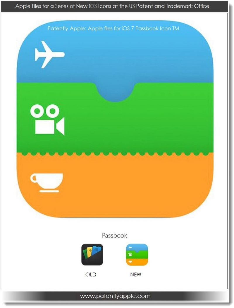 9. Apple's iOS 7 Passbook Icon