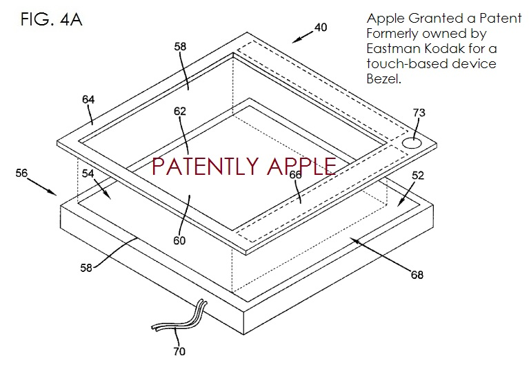 5. SMART BEZEL, APPLE PATENT FROM KODAK