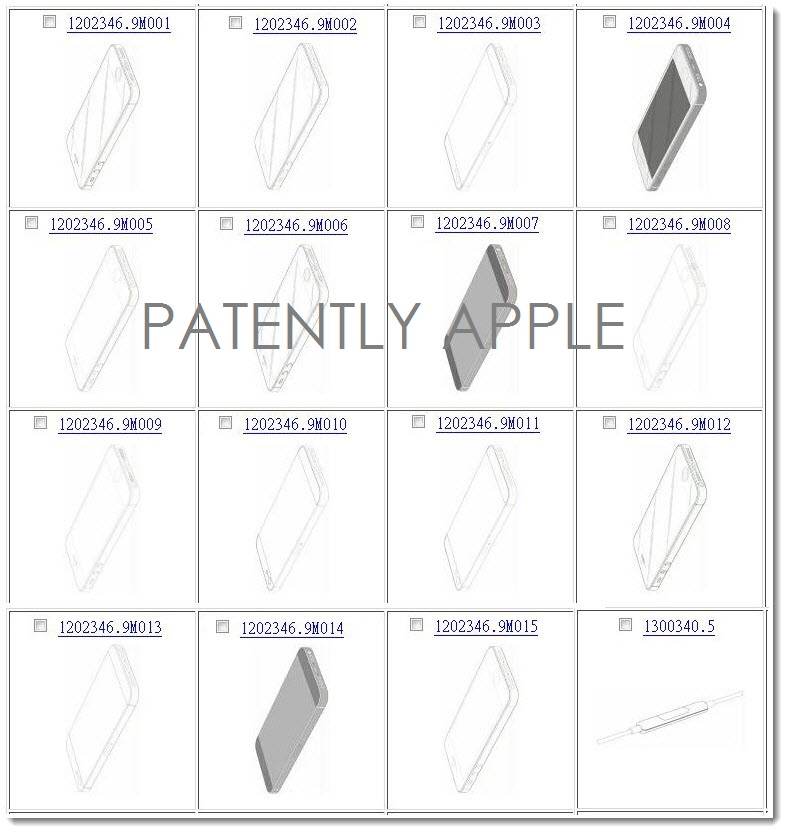 7. China - Hong Kong IP Office grants Apple 15 iPhone Design Patents + 1 EarPod Remote Design