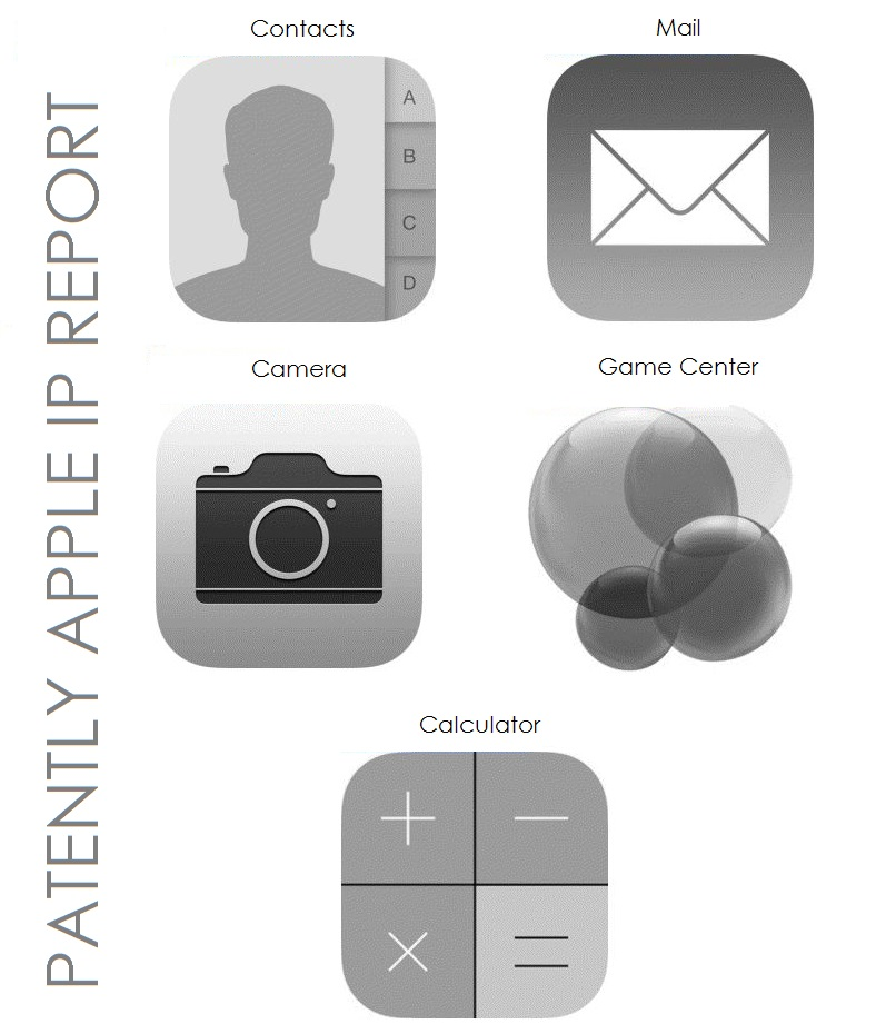 6. Apple iOS 7 Black and White Icon TM filings in Canada