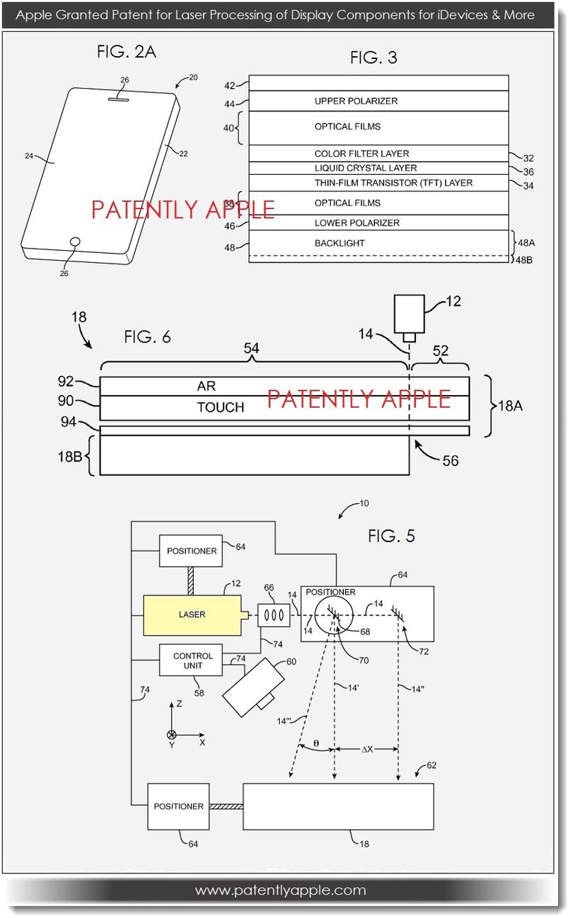 5. Apple wins patent for laser processing of display components july 2013