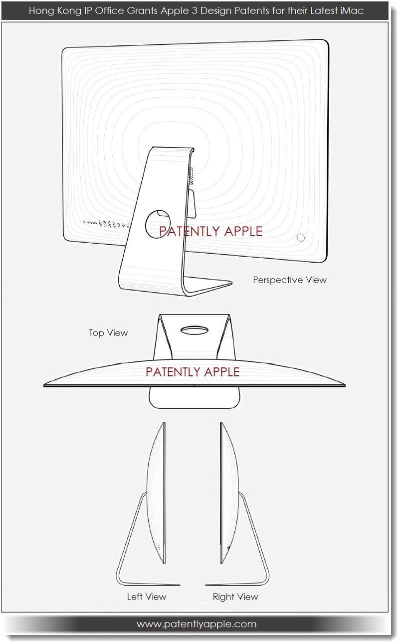 3. Hong Kong grants Apple 3 iMac Design Patents