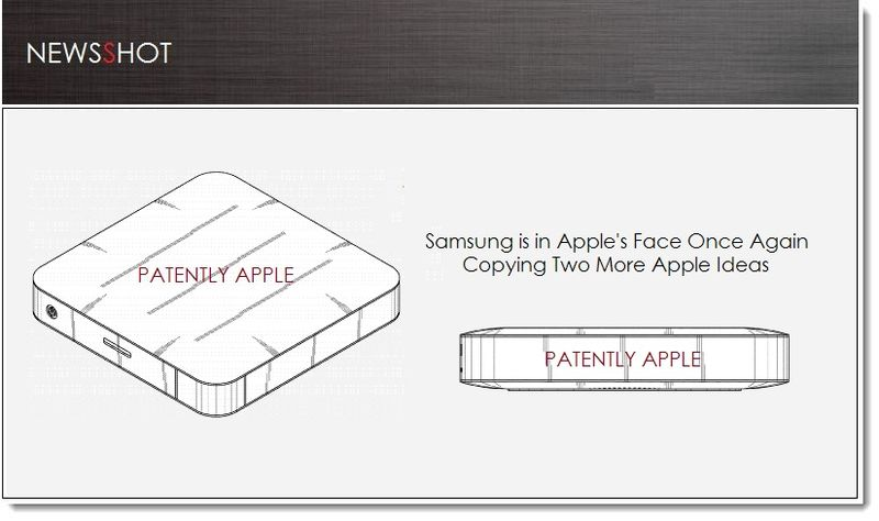 1. Cover - Samsung Granted 2 design patents that basically copy Mac mini & Spiral's UI