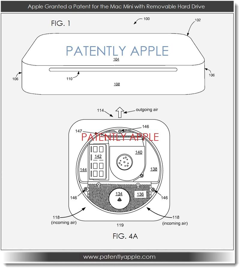 4. Apple Granted a Patent for the Mac Mini with removable hard drive