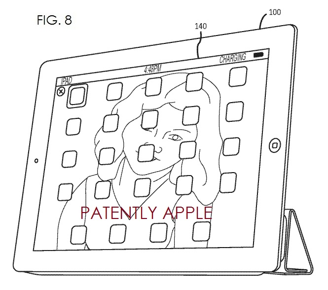 7. Apple patent fig. 8 choosing apps to be shared