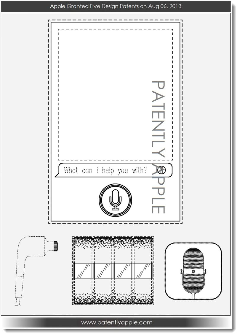 7. Apple granted five design patents today
