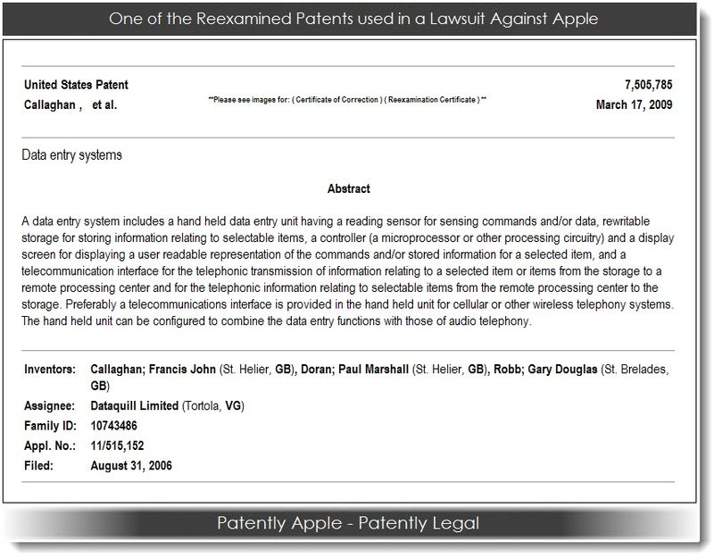 2. DataQuill patent used in patent infringement case against Apple Aug 2013