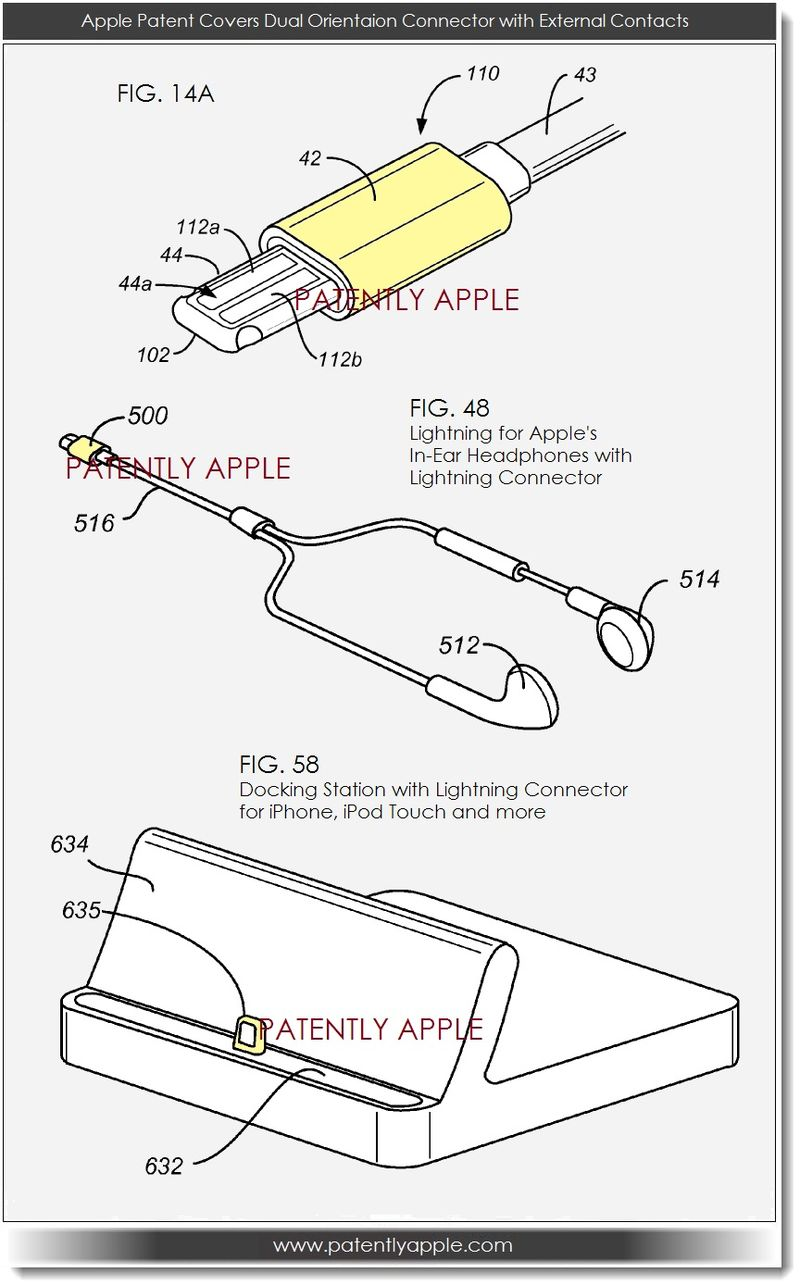 2. Apple patent covers dual orientation connector with External Contacts