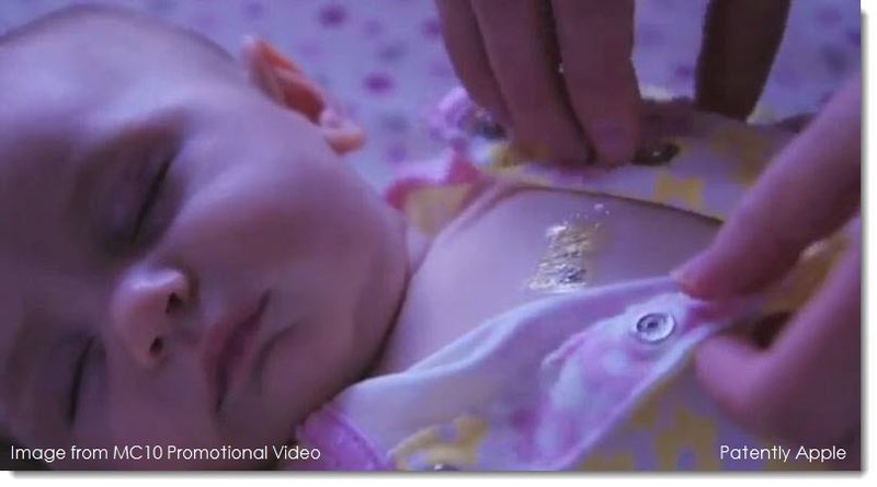9A sensor to monitor a baby's health, from MC10 video