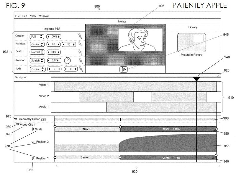 5. iMovie editing granted patent