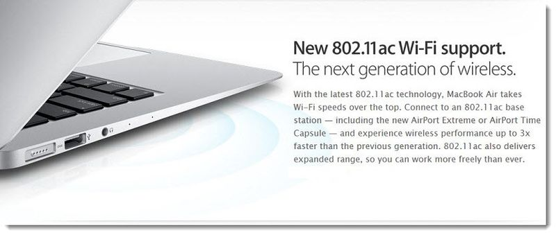 2- Apple adopts 802.11ac for macbook air and airport express