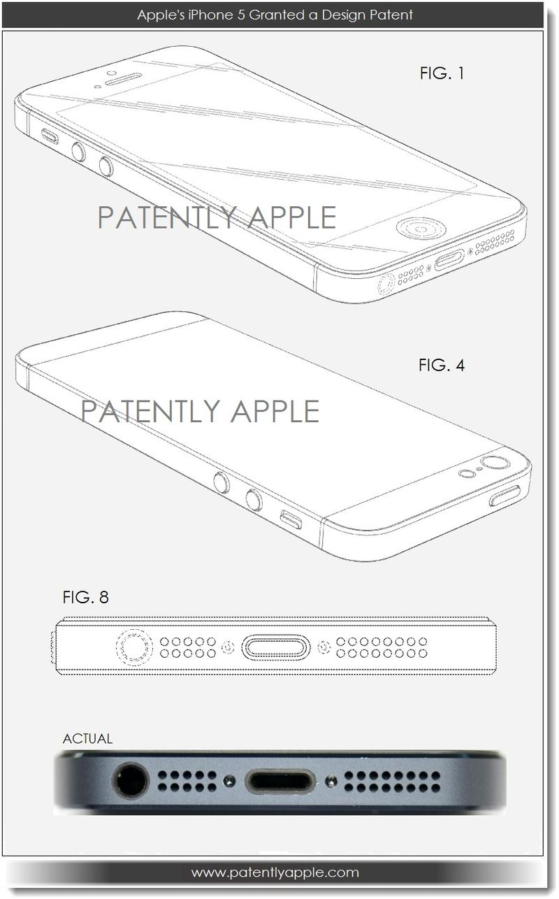 4. iPhone 5 Granted a Design Patent