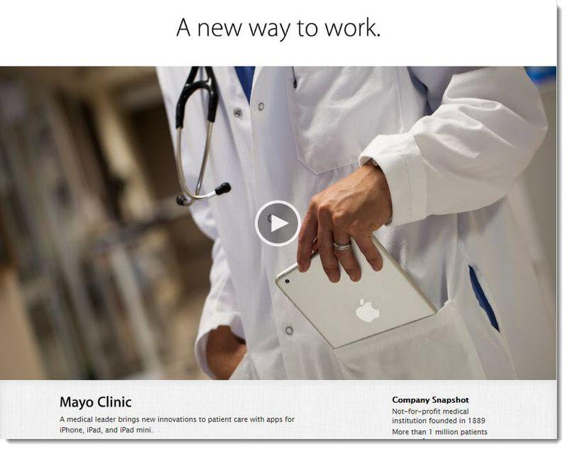 2. The Mayo Clinic uses the iPad