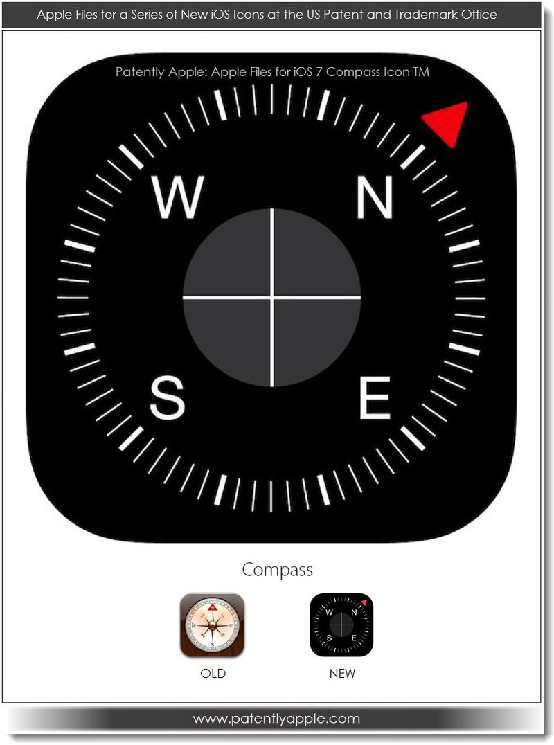7. Apple files for iOS 7 Compass icon