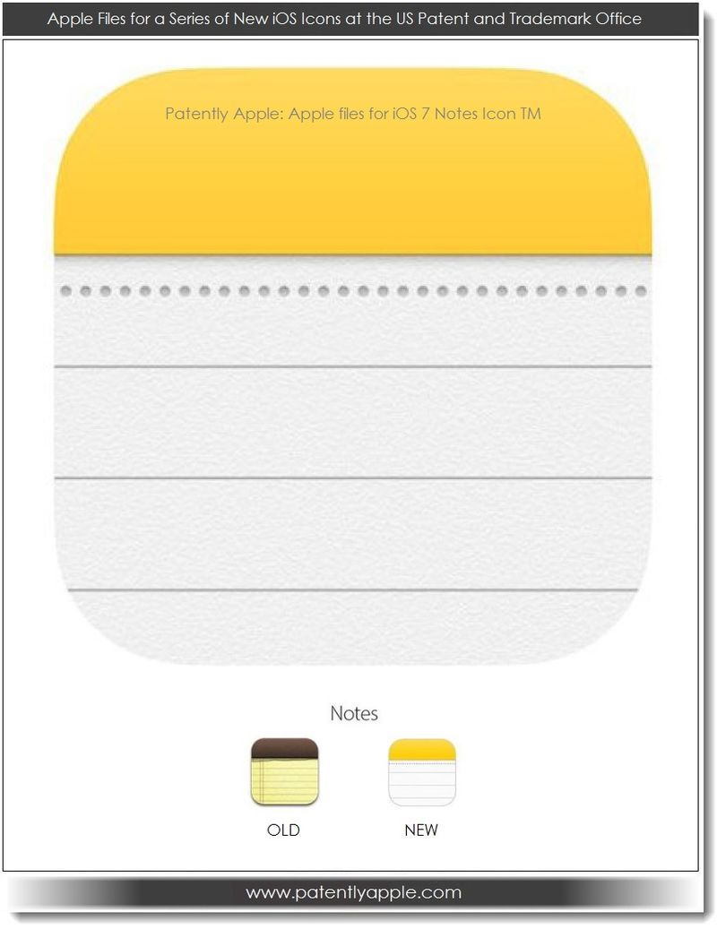 5. Apple iOS 7 Notes Icon