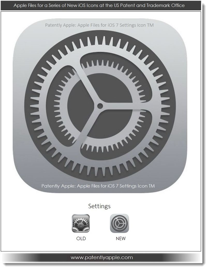 10. Apple iOS 7 Settings Icon