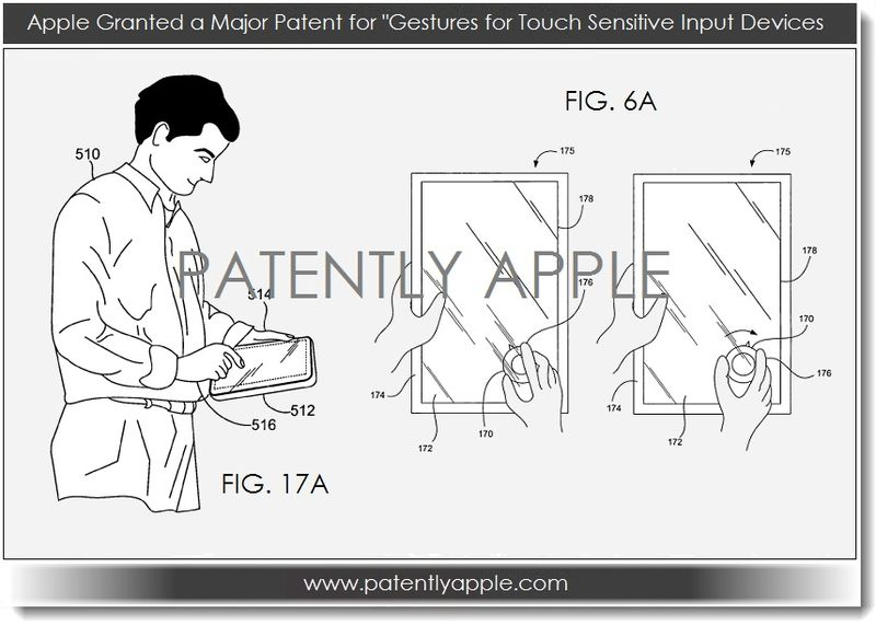 6. Apple wins major touch related patent