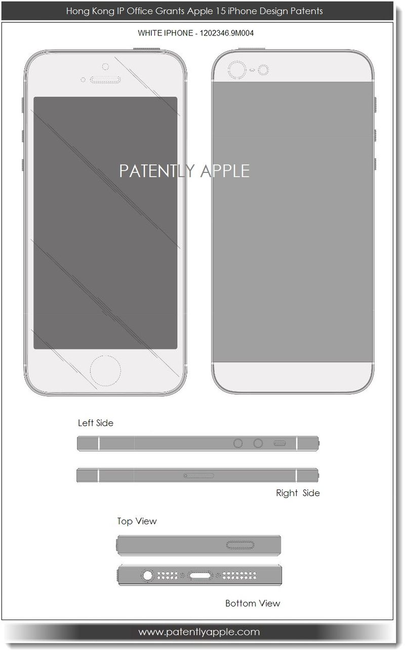 2. Hong Kong IP Office Grants Apple 15 iPhone Design Patents