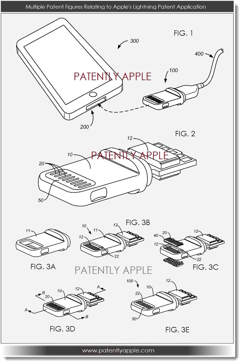 3. Apple Lightning Connector Patent filing