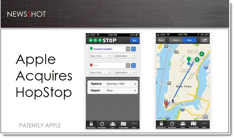 1. Cover - Apple Acquires HopStop