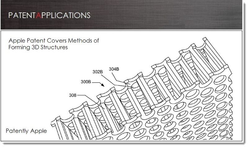 1. Cover - Apple patent - methods of forming 3D structures