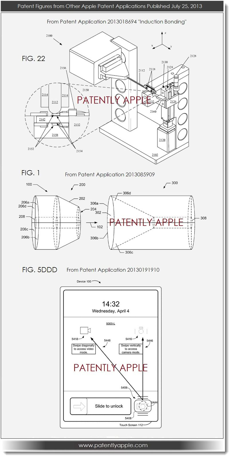 4. Various other Apple patent figures July 25, 2013