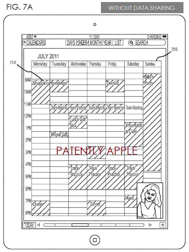 3. Apple Patent fig 7a - without data sharing