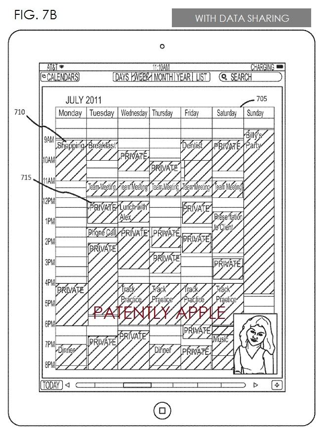 4. Apple Patent 7b - with data sharing using Private Mode