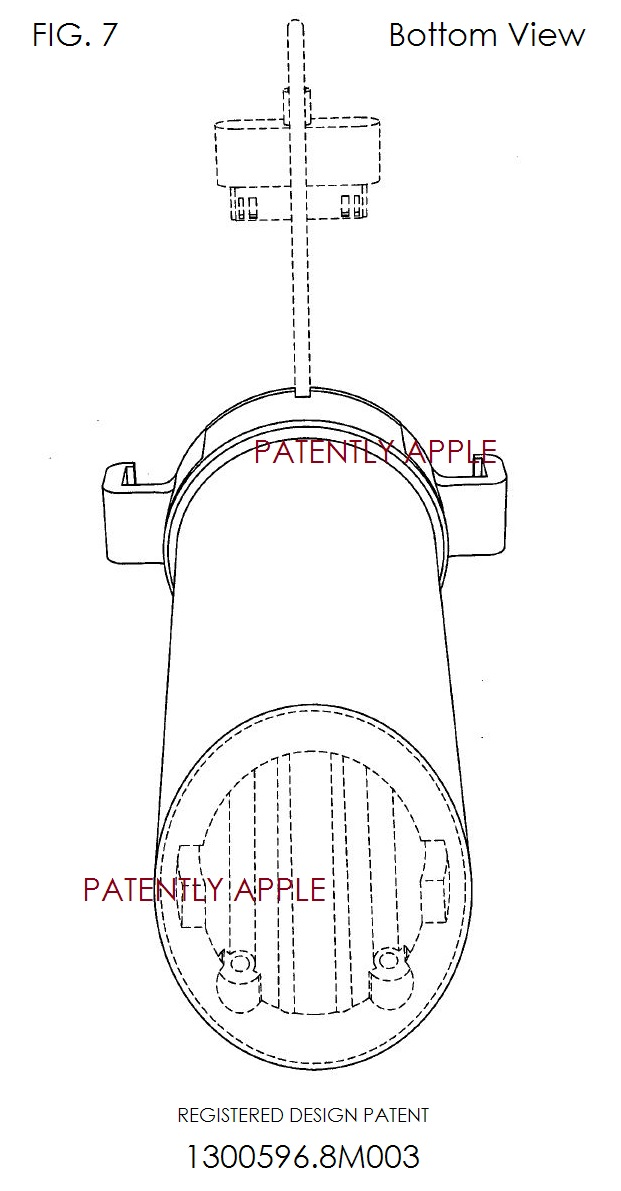 4. Apple design patent granted in Hong Kong - bottom view fig 7 of .8M003