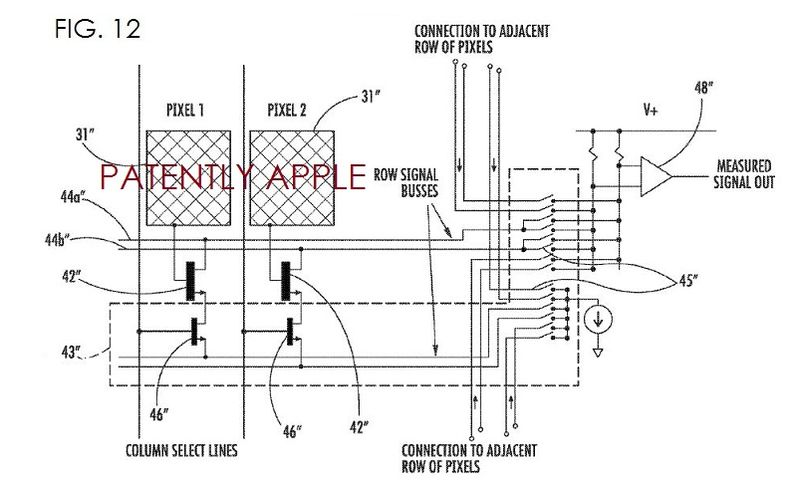 7. Apple FIG. 12 is a schematic circuit diagram of a portion of a finger sensing device of FIG. 11.