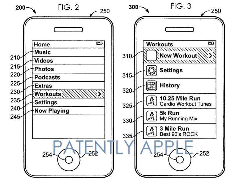 3. Apple Granted patent  for quickstart workout generation and calibration