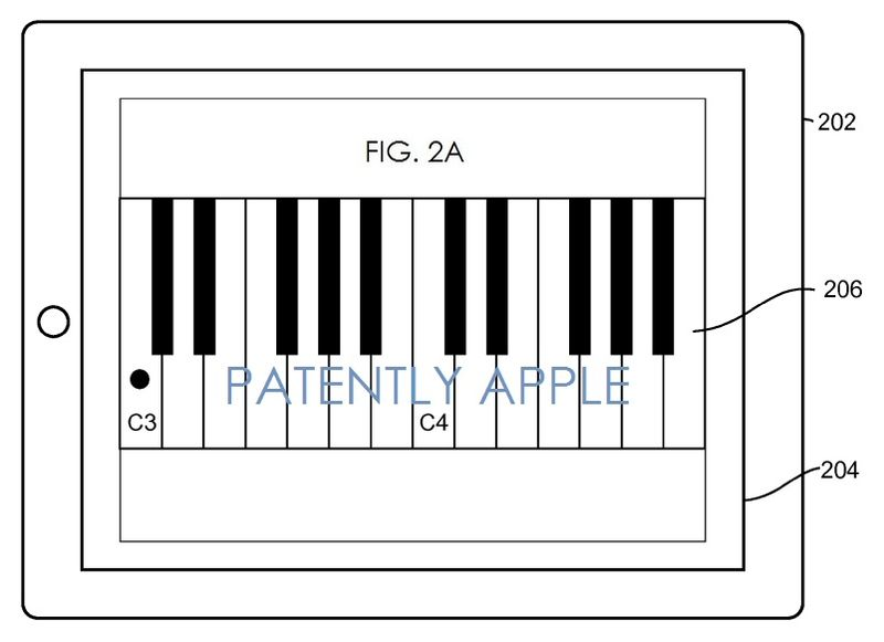 5. Apple Granted a Patent for a Scrolling Virtual Piano Keyboard