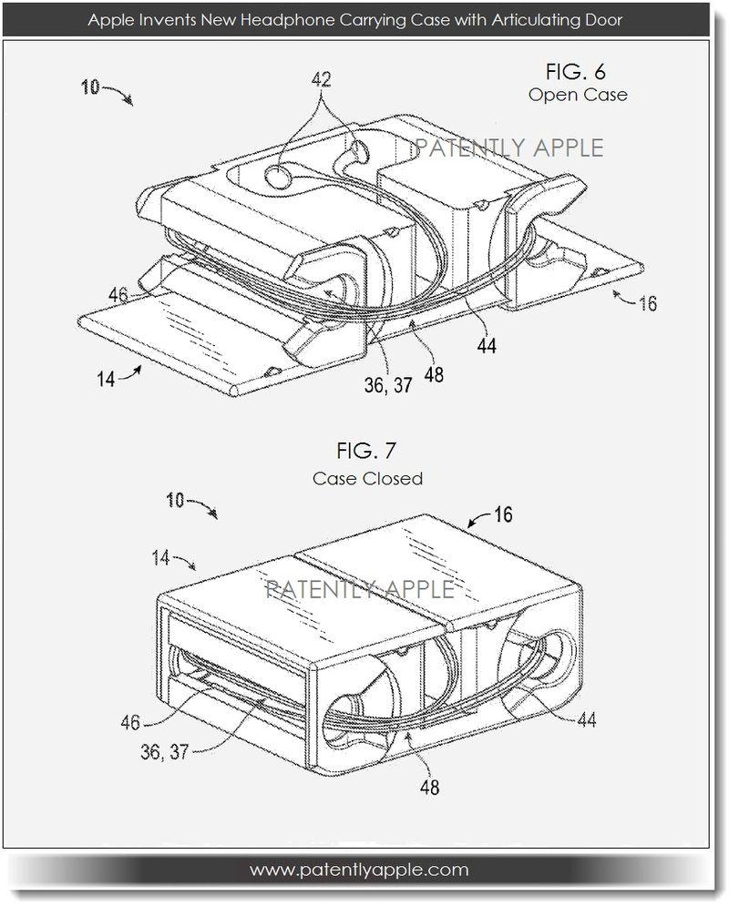 2. Apple Invents headphone carrying case with articulating door