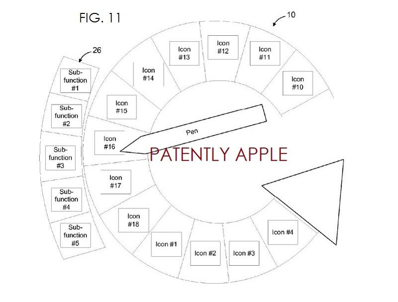 4. Apple patent fig. 11 - SUB MENUS