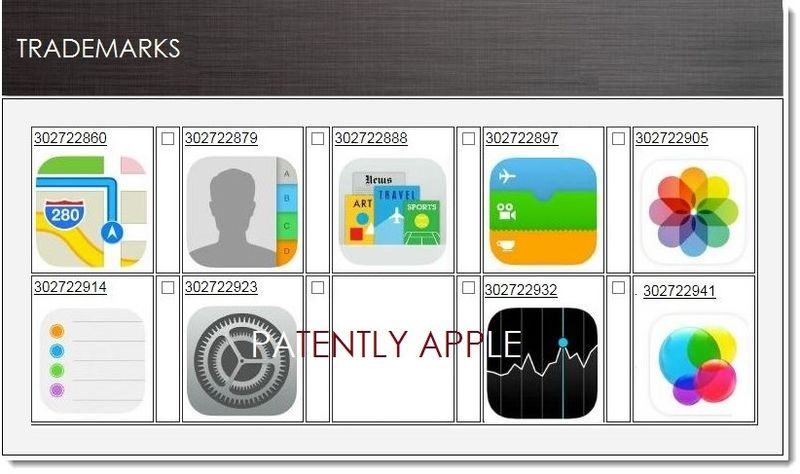 1. Cover - Apple begins iOS icon trademark filings