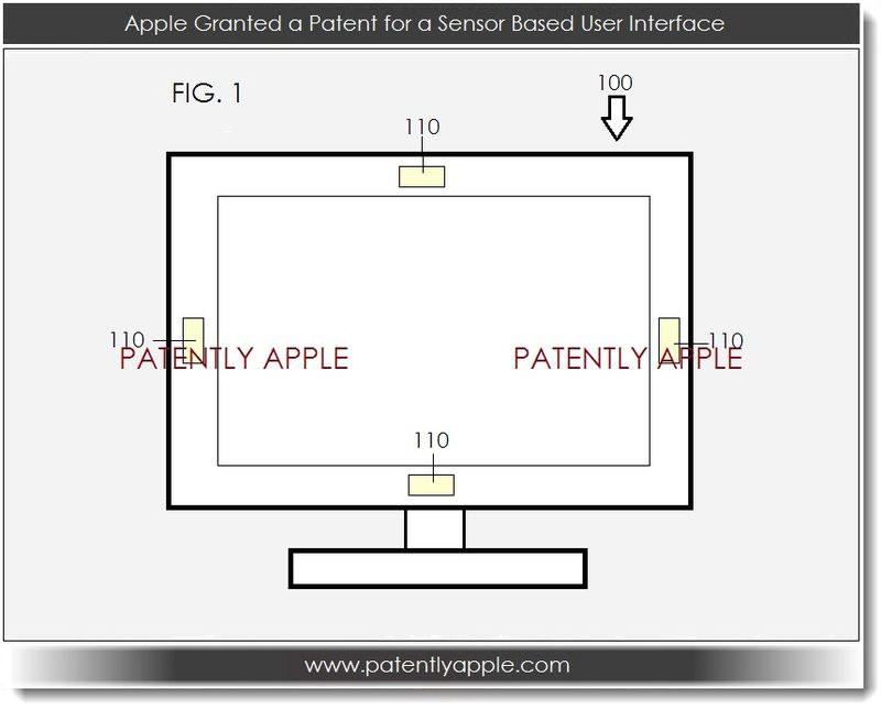 2. Apple Granted a Patent for a Sensor Based User Interface